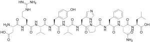 Angiotensin I [Val5,Asn9], bullfrog